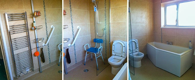 Bathroom installed by RS Heating and Building Co